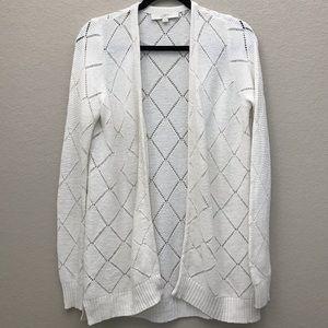 LOFT Knit Open Front Cardigan